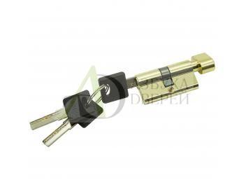 Цилиндр ключ/фиксатор Bravo AРF-60-30/30 G Золото (алюм., 3 ключа)