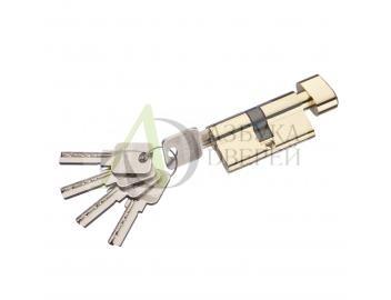 Цилиндр ключ/фиксатор Bravo AЕF-60-30/30 G Золото (алюм., 5 ключей)