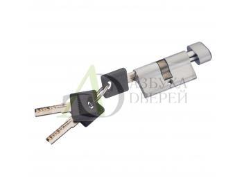 Цилиндр ключ/фиксатор Bravo AРF-60-30/30 SC МатХром (алюм., 3 ключа)