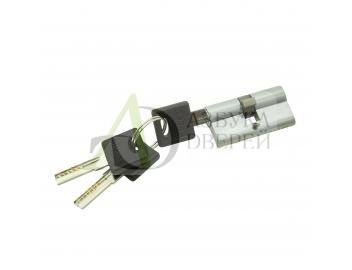 Цилиндр Ключ/ключ Bravo AРK-60-30/30 SC МатХром (алюм., 3 ключа)
