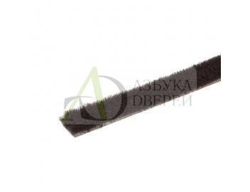 Уплотнитель щеточный самоклеющийся 4Р коричневый