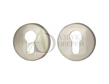 Накладка цилиндровая на круглой розетке Bravo I-1CL INOX