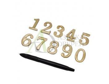 Цифра самоклеющаяся DN-01 Золото
