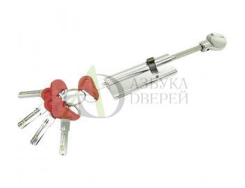 Цилиндр Ключ-фиксатор со штоком Fuaro D-PRO507 95*65*30 CP Хром (Латунь, 5 ключей)