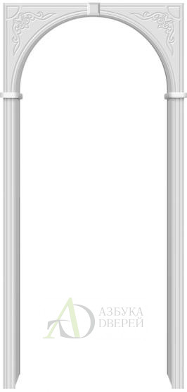 Межкомнатная ПВХ арка Муза Белый