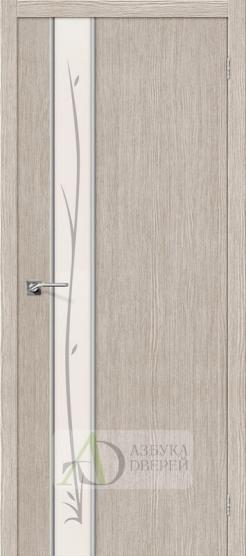 Межкомнатная дверь Финиш Флекс Глейс-1 Twig 3D Cappuccino
