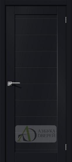 Межкомнатная дверь Хард Флекс Браво-21 Black Mix