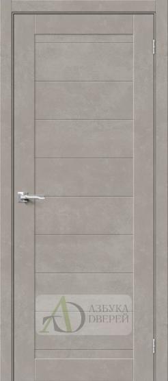 Межкомнатная дверь Хард Флекс Браво-21 Gris Beton