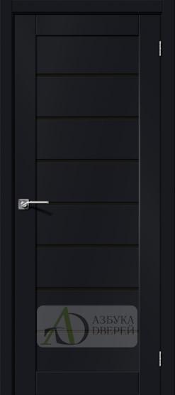 Межкомнатная дверь Хард Флекс Браво-22 BS Black Mix