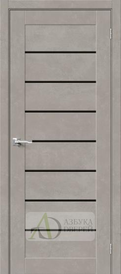 Межкомнатная дверь Хард Флекс Браво-22 BS Gris Beton