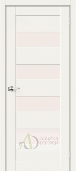 Межкомнатная дверь Хард Флекс Браво-23 MF White Mix