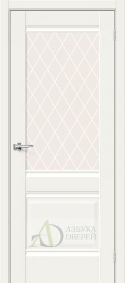 Межкомнатная дверь Хард Флекс Прима-3 White Mix