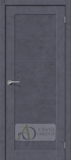 Межкомнатная дверь с экошпоном Легно-21 Graphite Art