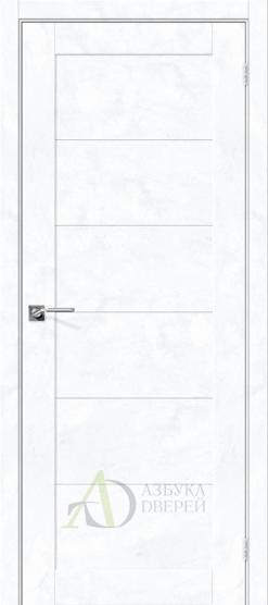 Межкомнатная дверь с экошпоном Легно-21 Snow Art