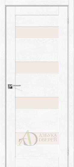 Межкомнатная дверь с экошпоном Легно-23 White Softwood