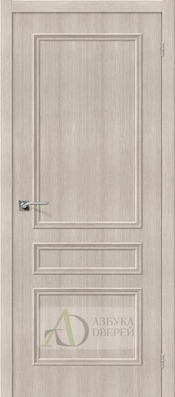 Межкомнатная дверь с экошпоном Симпл-14 Cappuccino Veralinga