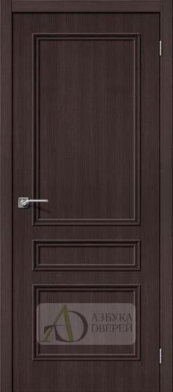 Межкомнатная дверь с экошпоном Симпл-14 Wenge Veralinga