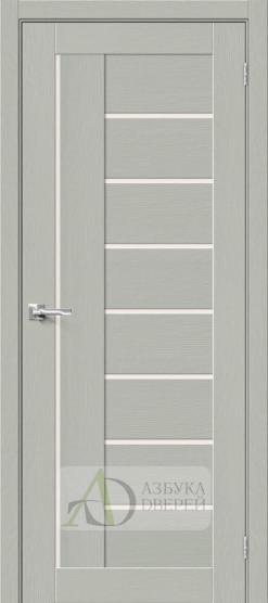 Межкомнатная дверь с Экошпоном Браво-29 Grey Wood/Magic Fog