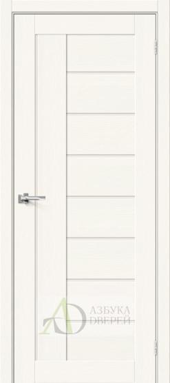 Межкомнатная дверь с Экошпоном Браво-29 White Wood/Magic Fog
