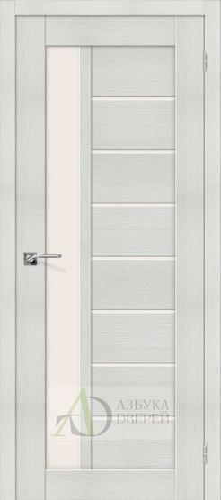Межкомнатная дверь с Экошпоном Порта-27 ПО Bianco Veralinga