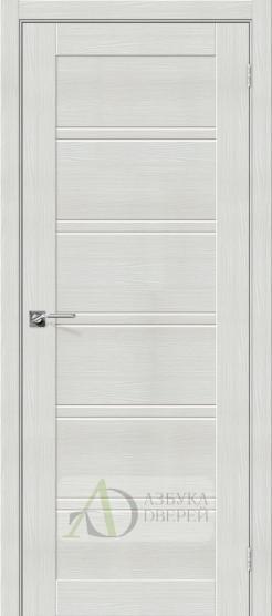 Межкомнатная дверь с Экошпоном Порта-28 ПО Bianco Veralinga