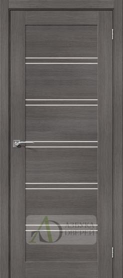 Межкомнатная дверь с Экошпоном Порта-28 ПО Grey Veralinga