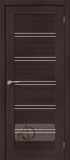 Межкомнатная дверь с Экошпоном Порта-28 ПО Wenge Veralinga