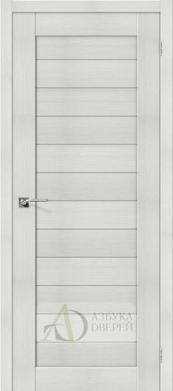 Межкомнатная дверь с Экошпоном Порта-21 ПГ Bianco Veralinga