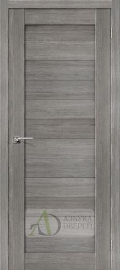 Межкомнатная дверь с Экошпоном Порта-21 ПГ Grey Veralinga