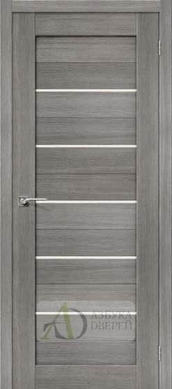 Межкомнатная дверь с Экошпоном Порта-22 ПО Grey Veralinga