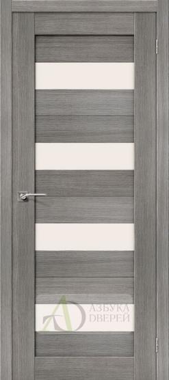 Межкомнатная дверь с Экошпоном Порта-23 ПО Grey Veralinga