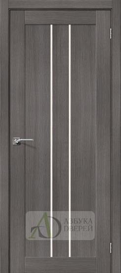Межкомнатная дверь с экошпоном Порта-24 Grey Veralinga