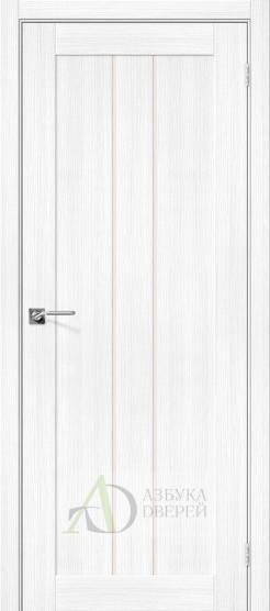 Межкомнатная дверь с экошпоном Порта-24 Snow Veralinga