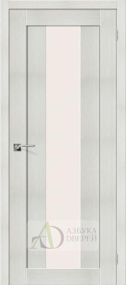 Межкомнатная дверь с Экошпоном Порта-25 alu ПО Bianco Veralinga