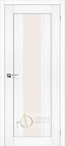 Межкомнатная дверь с экошпоном Порта-25 alu Snow Veralinga