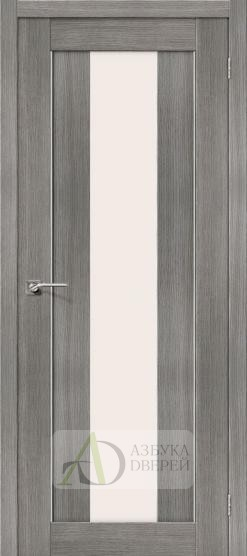 Межкомнатная дверь с Экошпоном Порта-25 alu ПО Grey Veralinga