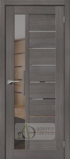 Межкомнатная дверь с эко шпоном Порта-27 MG Grey Veralinga