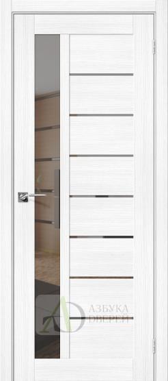 Межкомнатная дверь с экошпоном Порта-27 MG Snow Veralinga