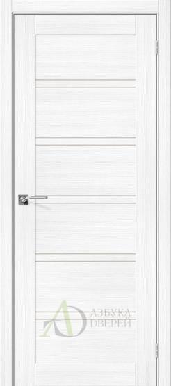Межкомнатная дверь с экошпоном Порта-28 Snow Veralinga