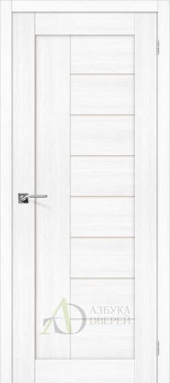 Межкомнатная дверь с экошпоном Порта-29 ПО Snow Veralinga