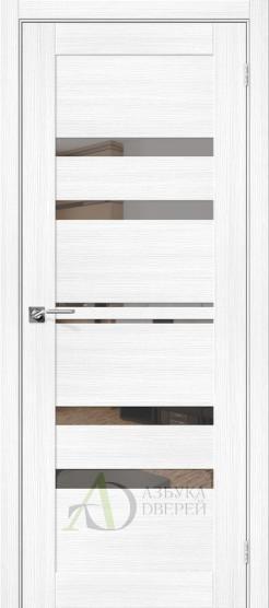 Межкомнатная дверь с экошпоном Порта-30 Snow Veralinga