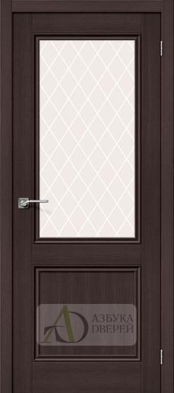 Межкомнатная дверь с экошпоном Порта-63 ПО Wenge Veralinga