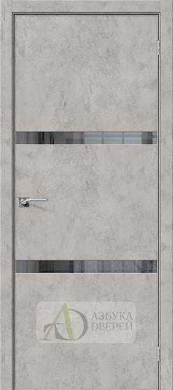 Межкомнатная дверь с экошпоном Порта-55 4AF Grey Art/Mirox Grey