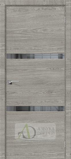 Межкомнатная дверь с экошпоном Порта-55 4AF West Skyline/Mirox Grey