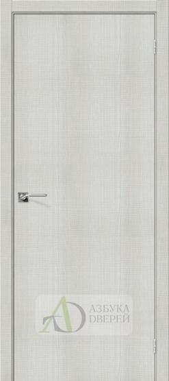 Межкомнатная дверь с экошпоном Порта-50 Bianco Crosscut