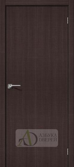 Межкомнатная дверь с экошпоном Порта-50 Wenge Crosscut