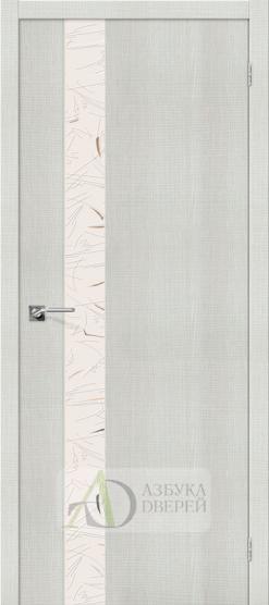 Межкомнатная дверь с экошпоном Порта-51 Bianco Crosscut