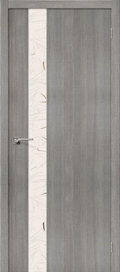 Межкомнатная дверь с экошпоном Порта-51 Grey Crosscut