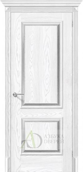 Межкомнатная дверь с экошпоном Классико-12 Silver Ash/Silver Rift