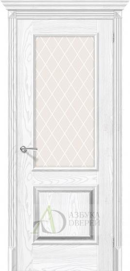 Межкомнатная дверь с экошпоном Классико-13 Silver Ash/Silver Rift